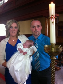 Diane and Kieran with baby Abi