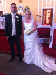 Claire and Kenneth on their wedding day.