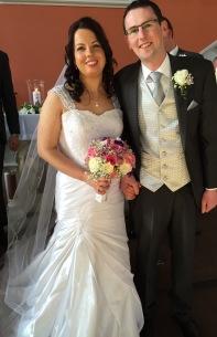 Eugene Ginnane and Loretta Flynn on their weddings day,