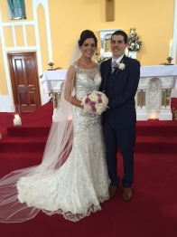 Cliona and Brian on their wedding day.