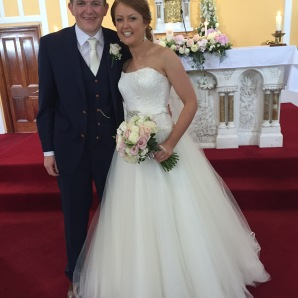 Neasa and Richard on their wedding day - 25 July 2015.