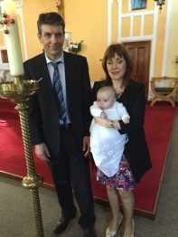 Aoibheann Catherine Fitzgerald on her baptism day.