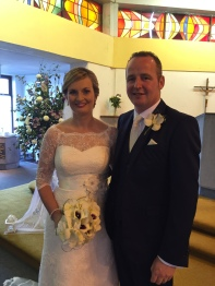 Louise Whelan and Robert Finn on their wedding day.