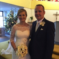 Louise Whelan and Robert Finn on their wedding day.