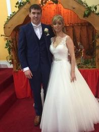 Nichola and Shane on their wedding day - 2 January 2016.