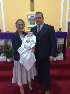 Diarmuid on his baptism day.