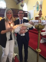 Darragh on his baptism day.