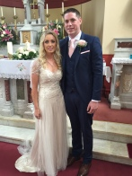 Aishling Murtagh and Niall Casey on their wedding day - 23 July 2016.