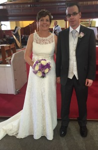 Mairead and PJ on their wedding day - 1 July, 2016