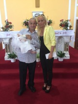 Arianna Dolly on her baptism day.