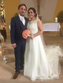 Edel and Raymond on their wedding day.