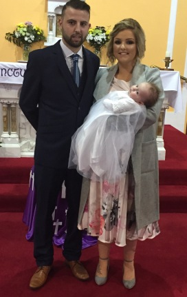 Nova Erin Maxwell on her baptism day.