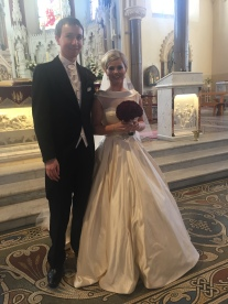 Liam and Laura on their wedding day.