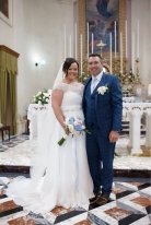 Catherine Whelan and Patrick Custy on their wedding day in Malta on 5 June, 2017.