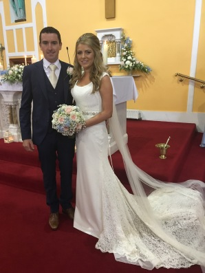 Edel and Kevin on their wedding day - 7 July 2017.