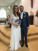 Ann Marie Morrissey and Aidan O'Sullivan on thier wedding day.