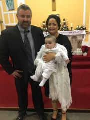 Evan Patrick Cullinan on his baptism day.