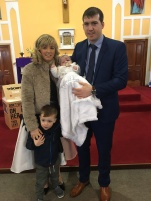 Éadaoin Joyce McNelis on her baptism day.
