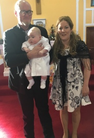 Dermot Valertine McMahon on his baptism day.