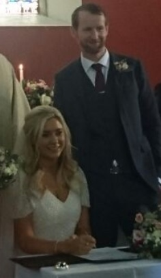 Olive and Keith on their wedding day.
