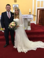Eimer Heehin and John Campbell on their wedding day.
