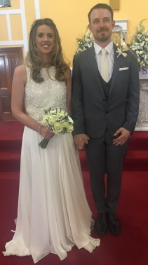 Olivia and John on their wedding day.