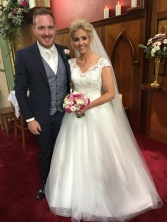Fergal and Amanda on their wedding day.