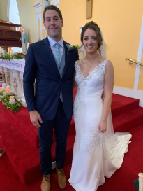 Eileen and Edward on their wedding day.