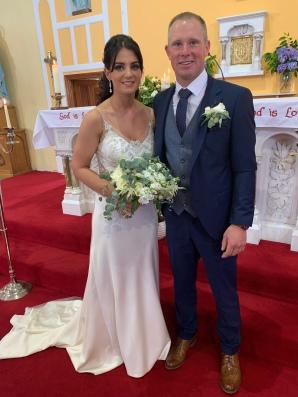 Tara and Stephen on their wedding day.