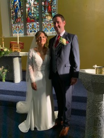Leanne and Michael on their wedding day.